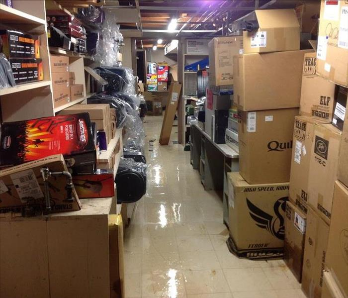 Flooded Basement in River Falls, WI Before