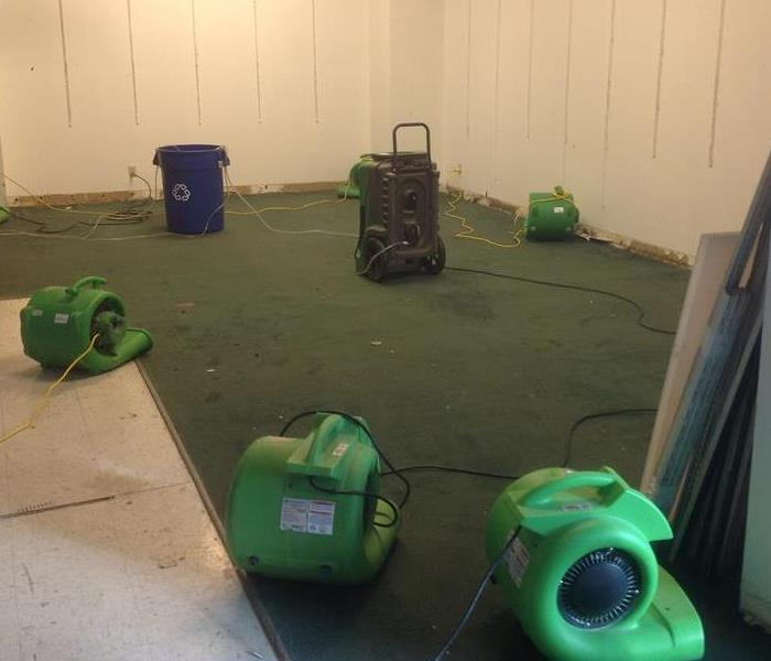 Dryers placed on carpeting.
