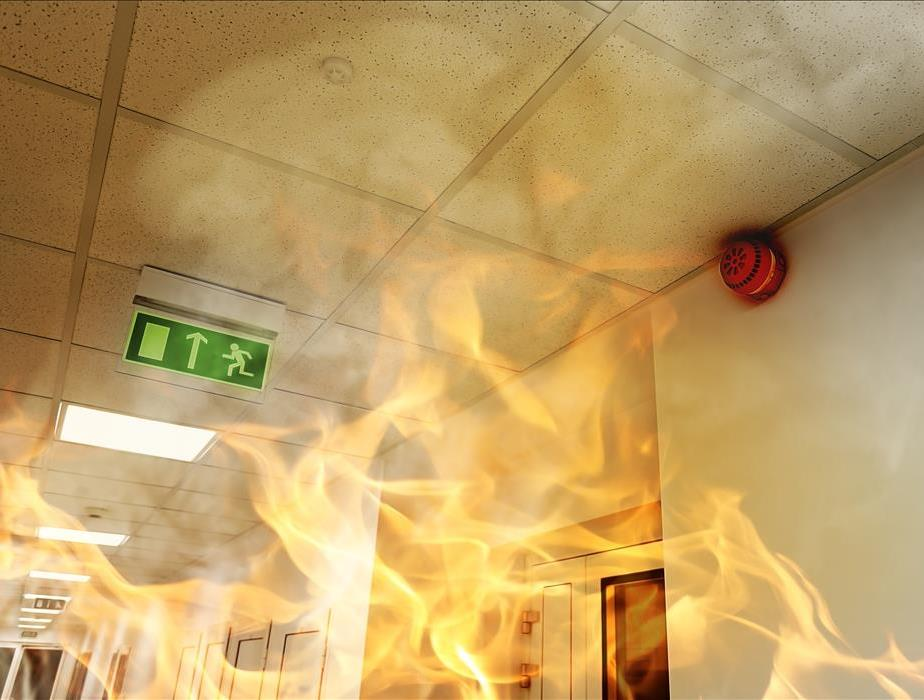 Fire in a workplace