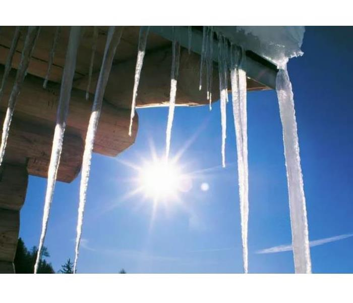 Icicles in sun light